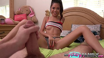 Petite Asian Teen Step Daughter Caught Fucking Step Brother